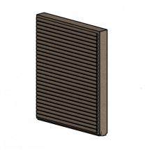 Right Side Brick - Morso Squirrel 1416/1416 - 79140300-R