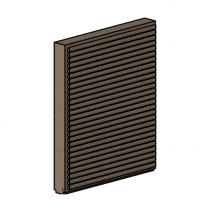 Left Side Brick - Morso Squirrel 1416/1416 - 79140300-L