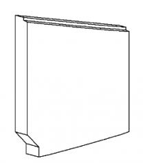 Right Side Brick - Morso 7100 - 79710200