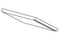 Lower Baffle Brick - Morso 8100 (excl 8180) - 79810500