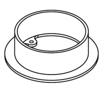 Flue Collar 5 Inch - Stockton (Various) Mk1 & Yeoman CL7 Inset (CCL/ACL)
