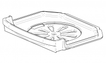 Contura 810/820 Cast Iron Bottom Grate