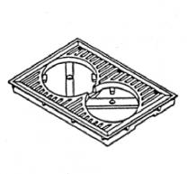 Inner Grate Frame - Morso Dove 1631