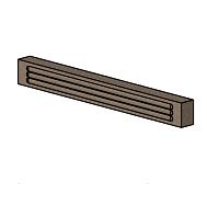 Rear Top Fire Brick - Morso Squirrel 1416/1416 - 79140500