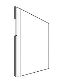 Left Side Brick - Morso 8100 (excl 8180) - 79810400