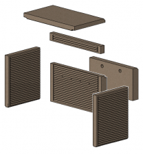 Morso 1416/1446/4118/1448 Complete Brick Set