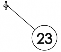 23 on C-Four Diagram. 22 on 6,7 and 8.