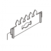 Country 4 Log Retainer - flame effect