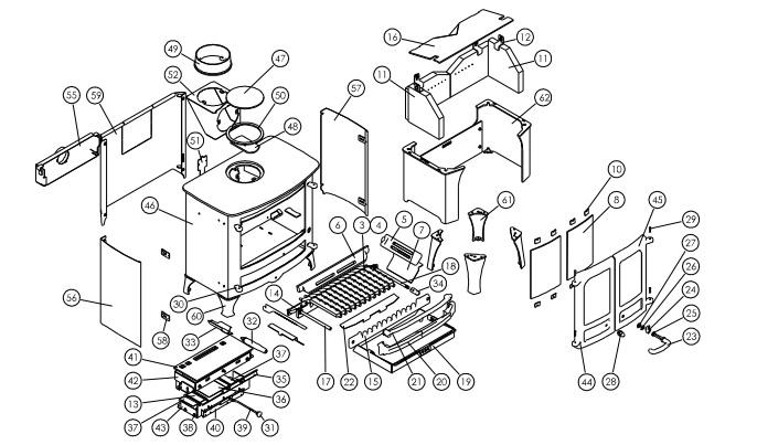 Exploded diagram Island 2 mk2 bz