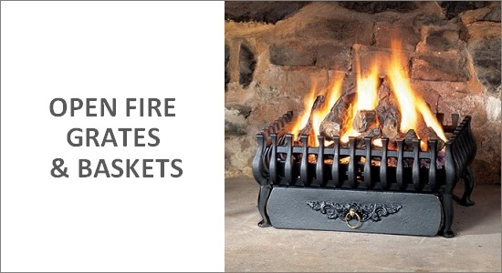 Open Fire Baskets & Grates